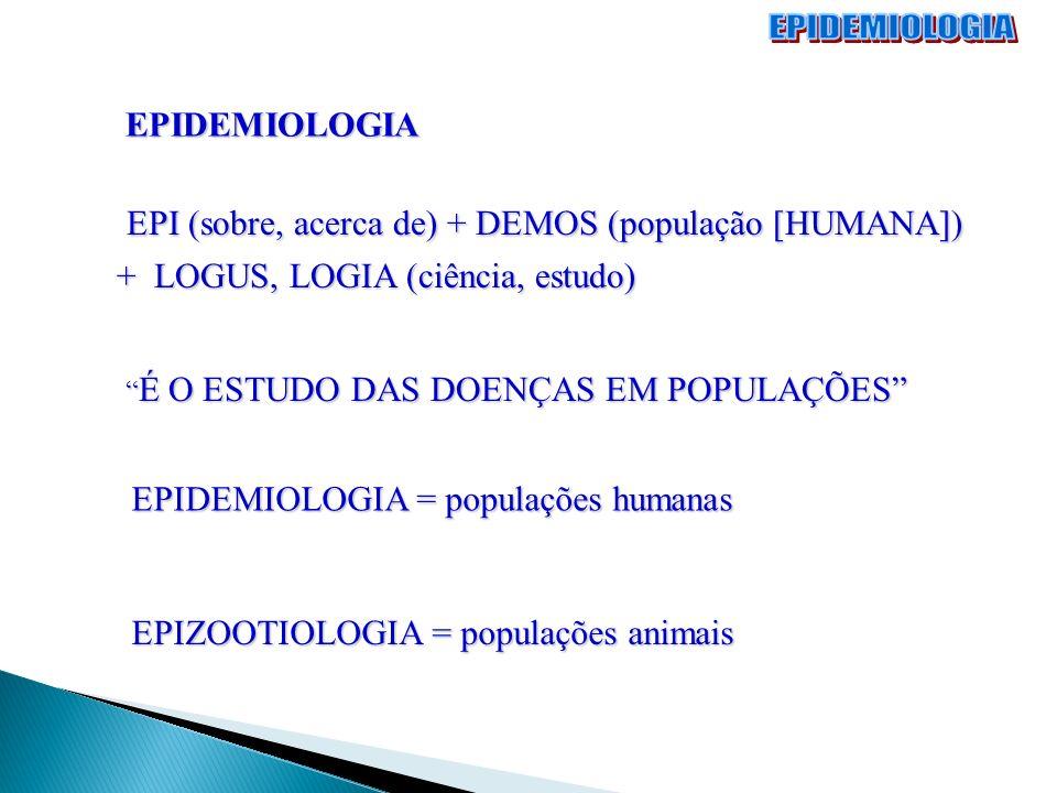 EPIDEMIOLOGIA EPI (sobre, acerca de) + DEMOS (população [HUMANA])